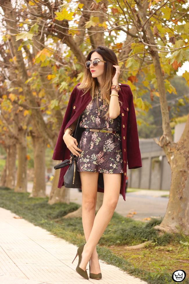 FashionCoolture - 27.07.2015 look du jour AMARO marsalla coat floral suit (3)