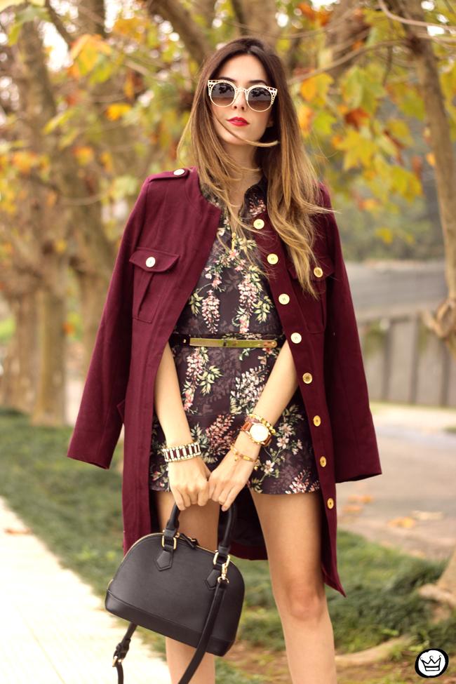 FashionCoolture - 27.07.2015 look du jour AMARO marsalla coat floral suit (4)