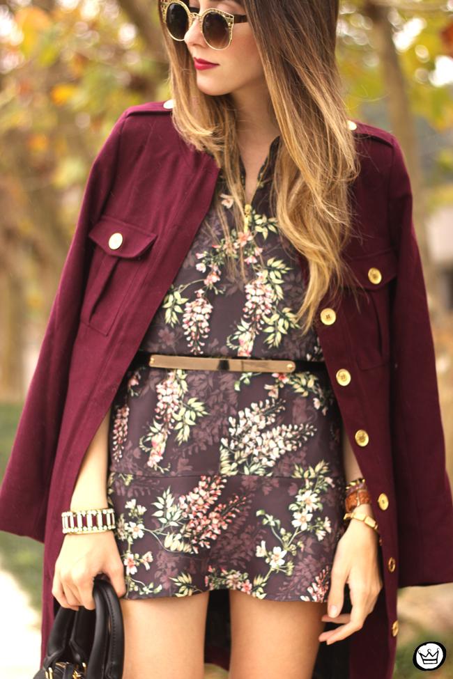 FashionCoolture - 27.07.2015 look du jour AMARO marsalla coat floral suit (5)