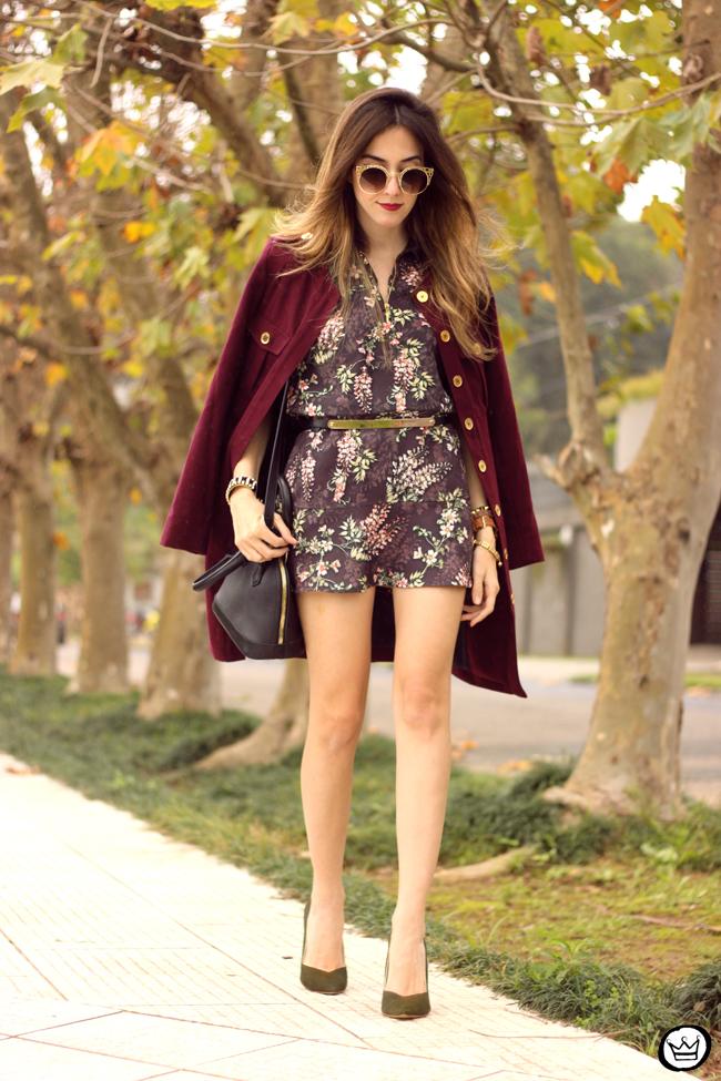 FashionCoolture - 27.07.2015 look du jour AMARO marsalla coat floral suit (6)