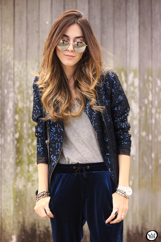 FashionCoolture - 28.07.2015 look du jour velvet pants sequined jacket (2)