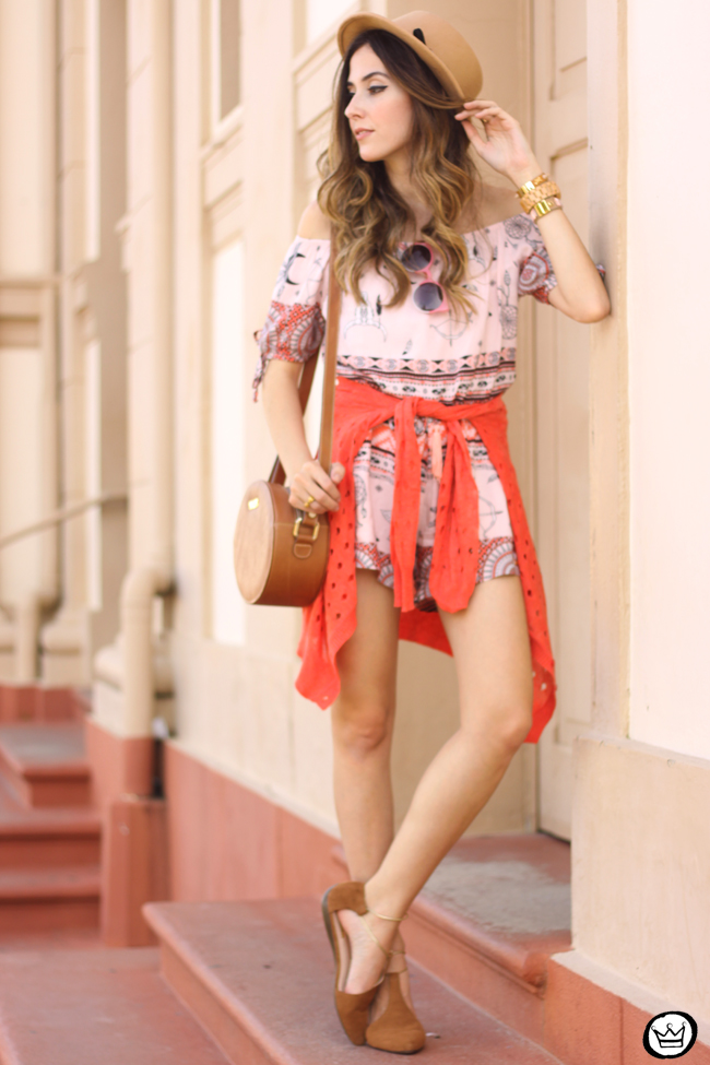 FashionCoolture - 29.07.2015 look du jour Displicent printed romper ethnic print (1)