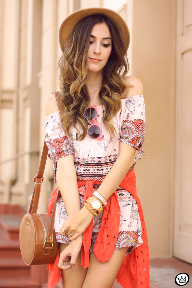 FashionCoolture - 29.07.2015 look du jour Displicent printed romper ethnic print (2)