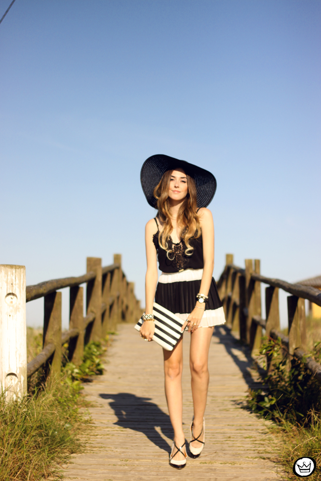 FashionCoolture - 03.08.2015 look du jour Moikana black & white outfit summer (1)