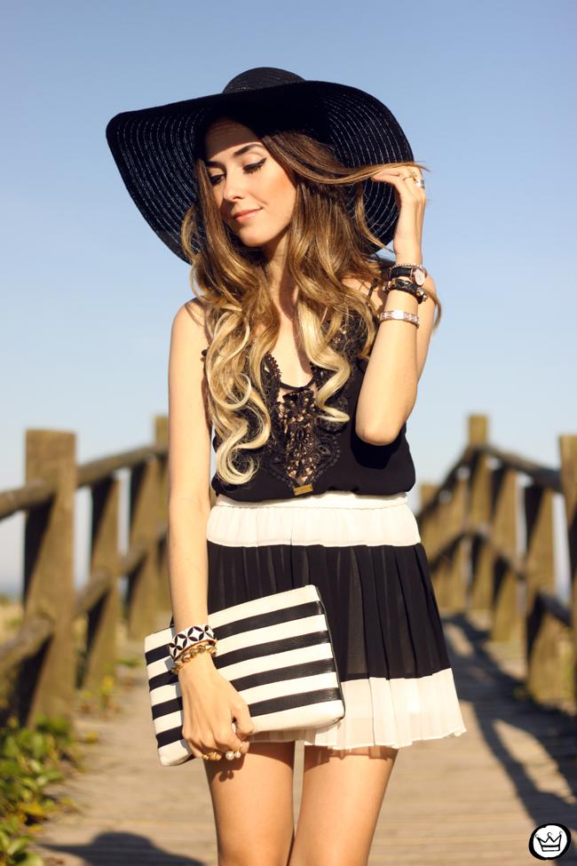 FashionCoolture - 03.08.2015 look du jour Moikana black & white outfit summer (2)