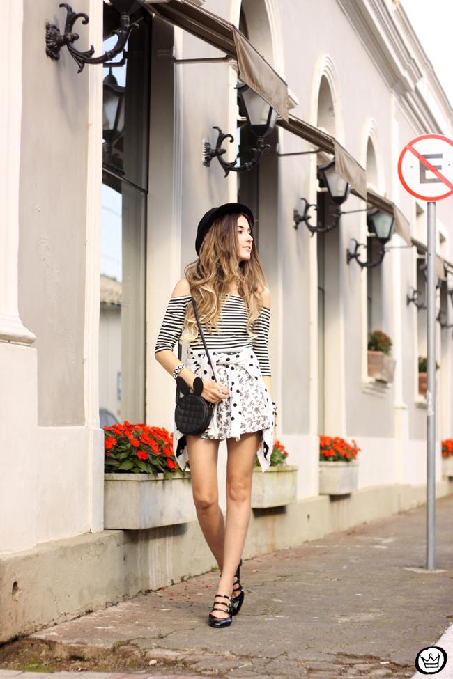 c59a26ffbc0 FashionCoolture - 04.08.2015 Slywear black and white mix of prints striped  top (1 ...