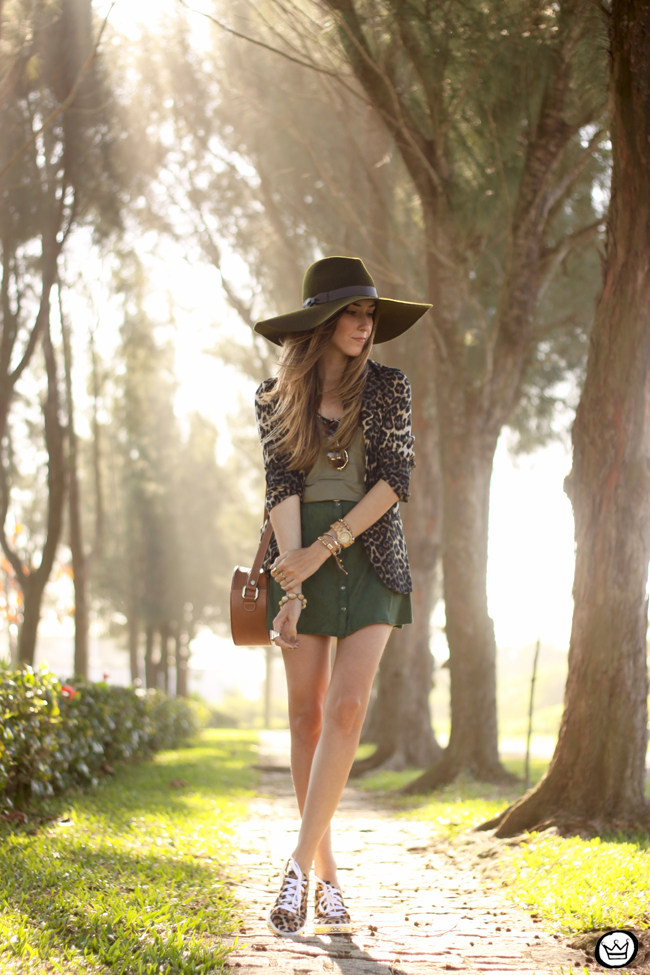 FashionCoolture - 13.08.2015 look du jour Displicent olive green leopard blazer (1)