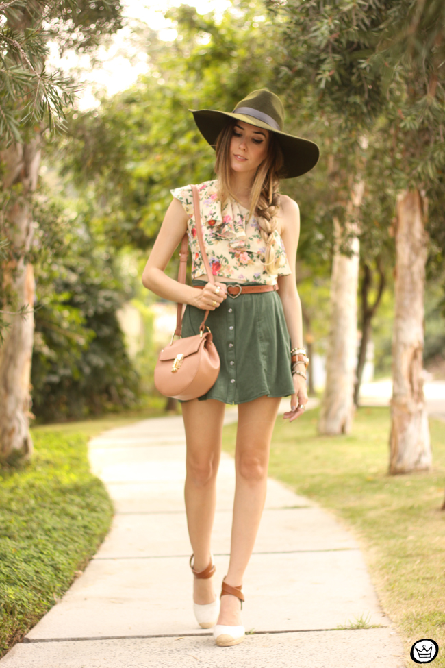 FashionCoolture - 18.08.2015 look du jour Displicent Amaro floral button-front A-line skirt (1)