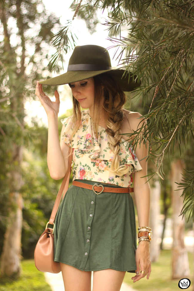 FashionCoolture - 18.08.2015 look du jour Displicent Amaro floral button-front A-line skirt (5)