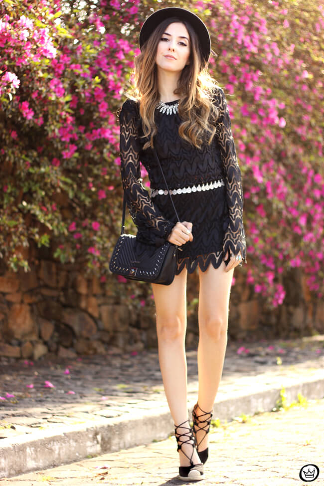 FashionCoolture - 24.08.2015 look du jour Moikana boho outfit black dress hat (1)