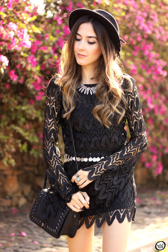 FashionCoolture - 24.08.2015 look du jour Moikana boho outfit black dress hat (2)