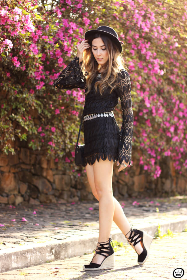 FashionCoolture - 24.08.2015 look du jour Moikana boho outfit black dress hat (3)
