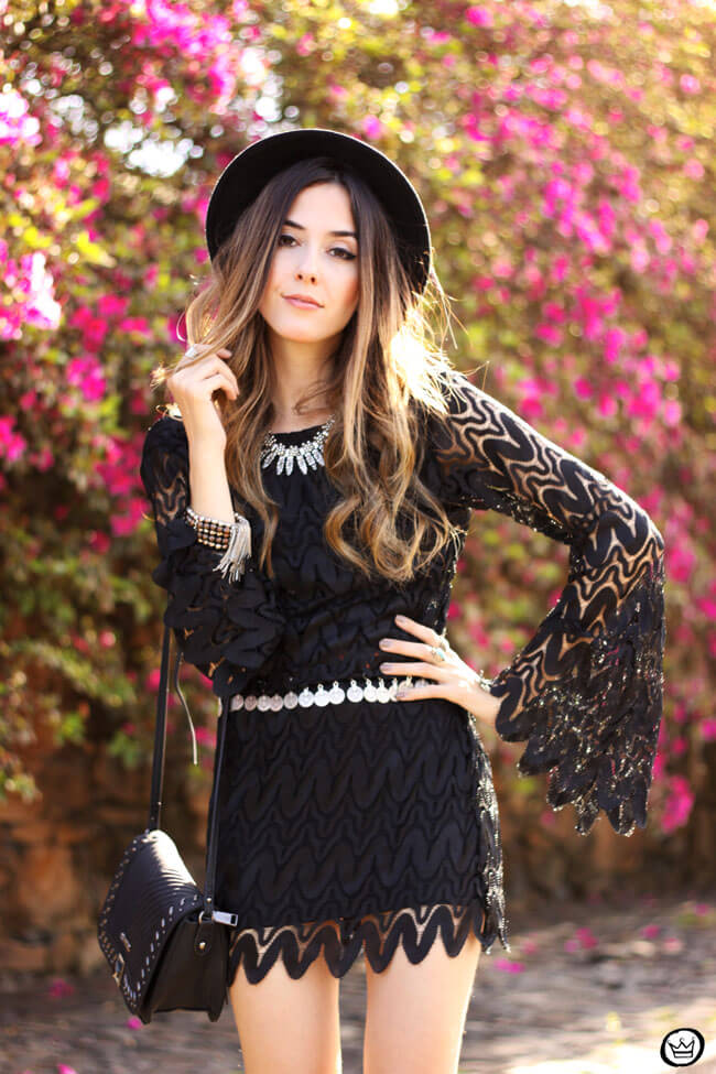 FashionCoolture - 24.08.2015 look du jour Moikana boho outfit black dress hat (6)