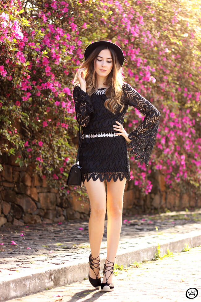 FashionCoolture - 24.08.2015 look du jour Moikana boho outfit black dress hat (7)