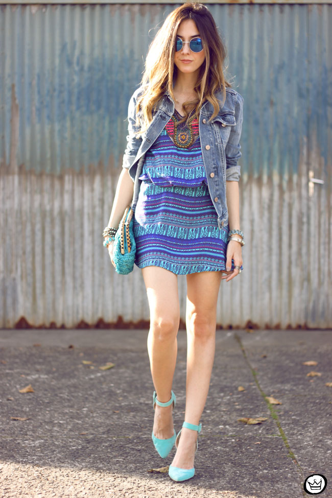 FashionCoolture - 25.08.2015 look du jour Lez a Lez summer printed dress denim (1)