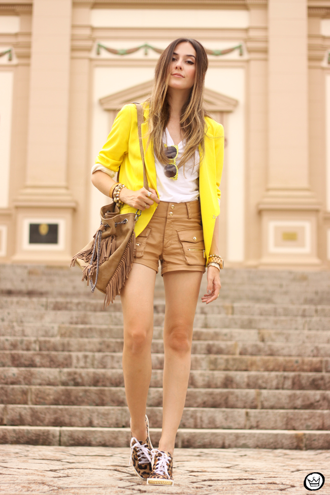 FashionCoolture - 26.08.2015 look du jour Shoulder yellow blazer pop of colour (1)
