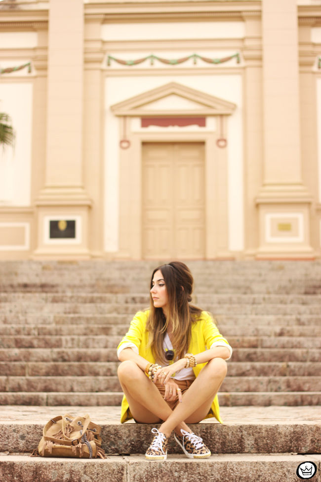 FashionCoolture - 26.08.2015 look du jour Shoulder yellow blazer pop of colour (3)