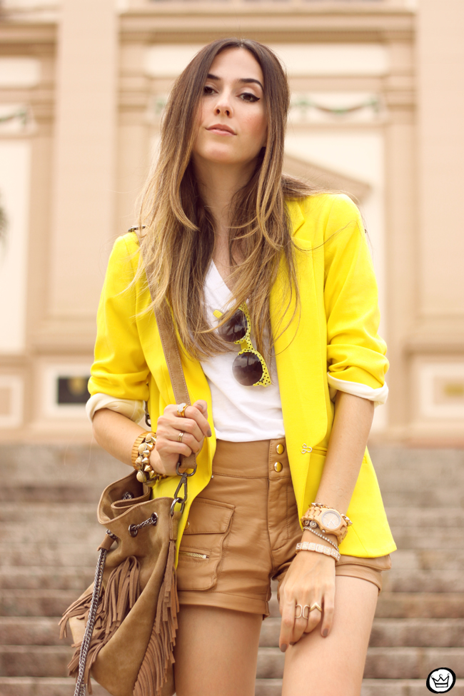 FashionCoolture - 26.08.2015 look du jour Shoulder yellow blazer pop of colour (6)