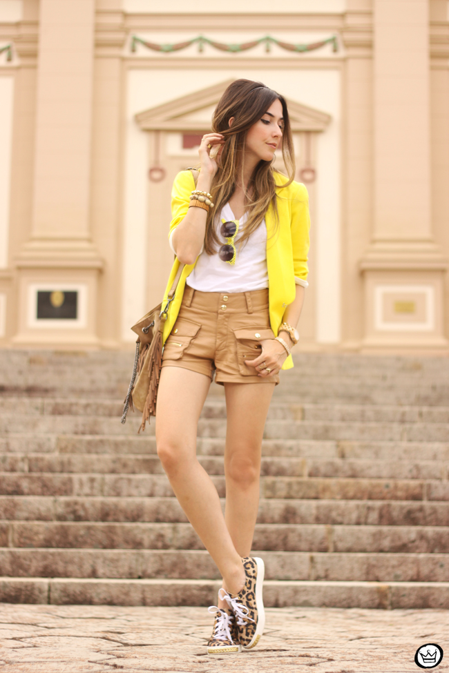 FashionCoolture - 26.08.2015 look du jour Shoulder yellow blazer pop of colour (7)