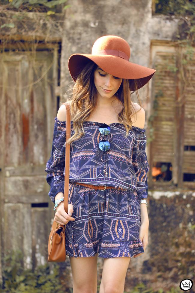 FashionCoolture - 01.09.2015 look du jour Amaro boho outfit printed dress (2)