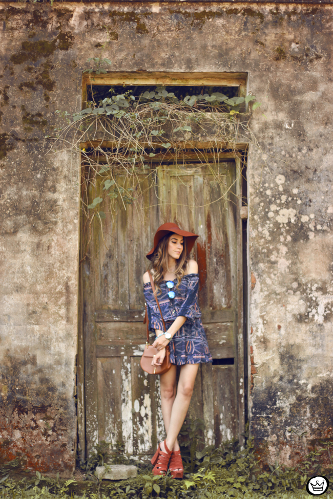 FashionCoolture - 01.09.2015 look du jour Amaro boho outfit printed dress (4)