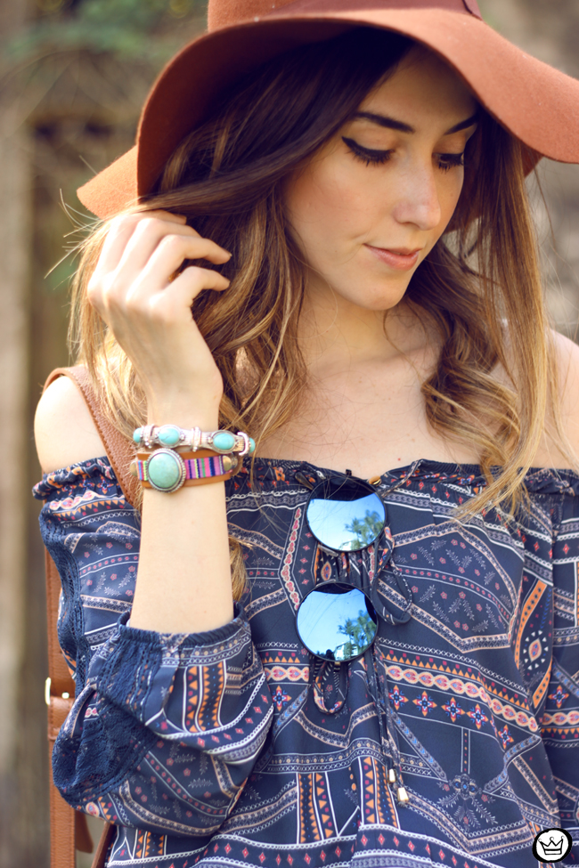 FashionCoolture - 01.09.2015 look du jour Amaro boho outfit printed dress (5)