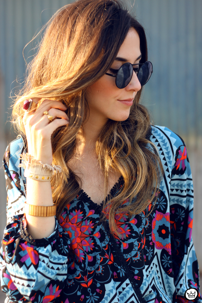FashionCoolture - 02.09.2015 look du jour Anna Morena boho outfit printed top flare pants (4)