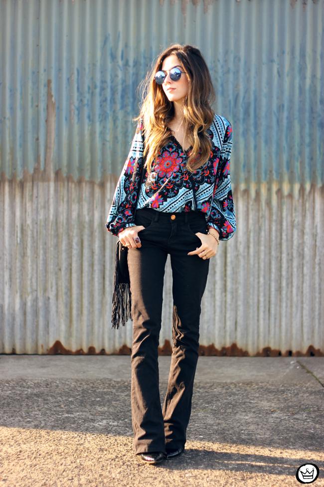 FashionCoolture - 02.09.2015 look du jour Anna Morena boho outfit printed top flare pants (6)