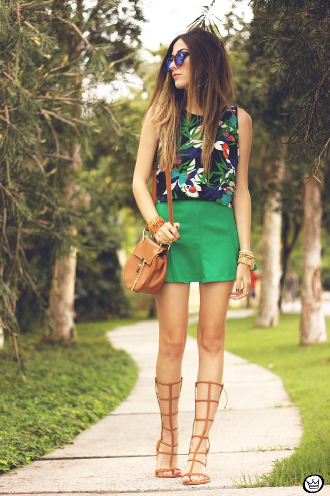 FashionCoolture - 08.09.2015 look du jour  Anna Morena printed top summer outfit gladiators look com sandalia gladiadora (1) .