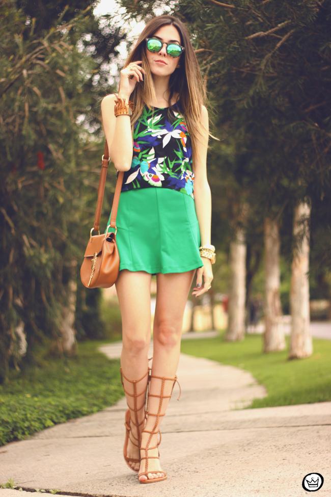 FashionCoolture - 08.09.2015 look du jour  Anna Morena printed top summer outfit gladiators look com sandalia gladiadora (6)