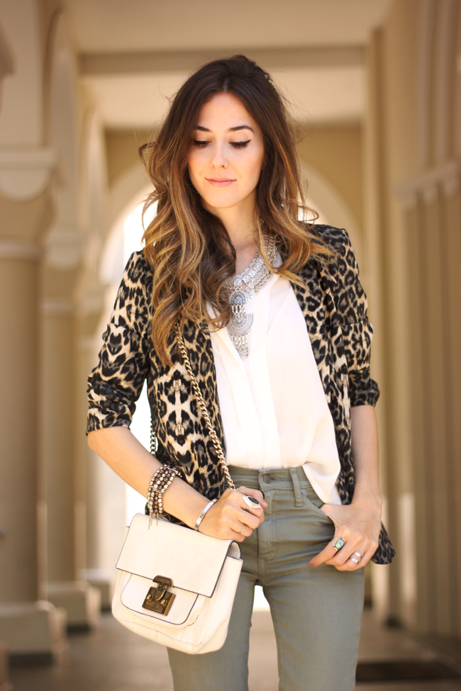 FashionCoolture - 14.09.2015 look du jour resolution denim Gap leopard blazer (6)