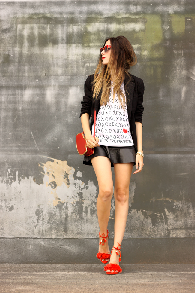FashionCoolture - 16.09.2015 outfit with tshirt red and black (1)