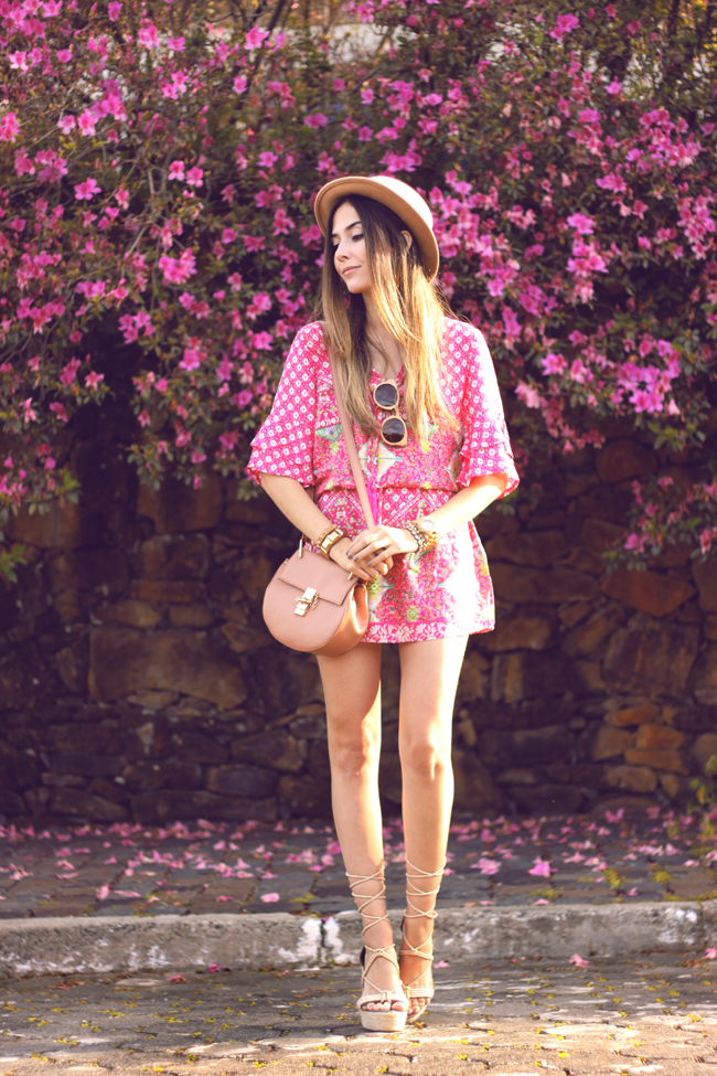 FashionCoolture - 18.09.2015 look du jour Displicent pink printed dress summer outfit (1)