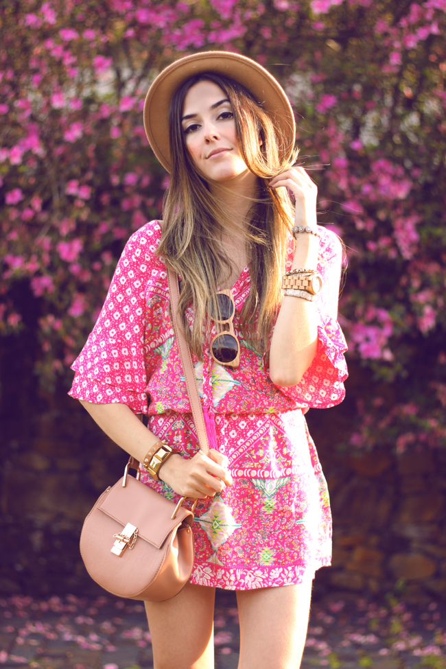 FashionCoolture - 18.09.2015 look du jour Displicent pink printed dress summer outfit (2)