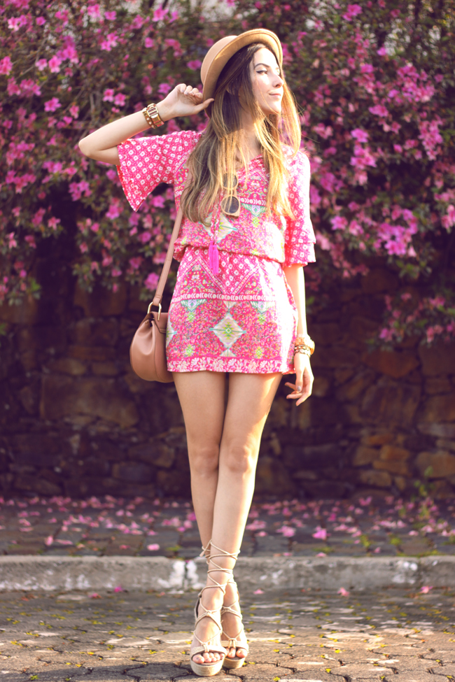FashionCoolture - 18.09.2015 look du jour Displicent pink printed dress summer outfit (3)