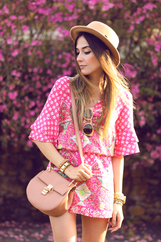 FashionCoolture - 18.09.2015 look du jour Displicent pink printed dress summer outfit (4)