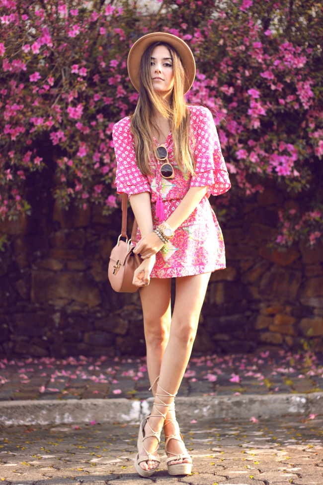 FashionCoolture - 18.09.2015 look du jour Displicent pink printed dress summer outfit (5)