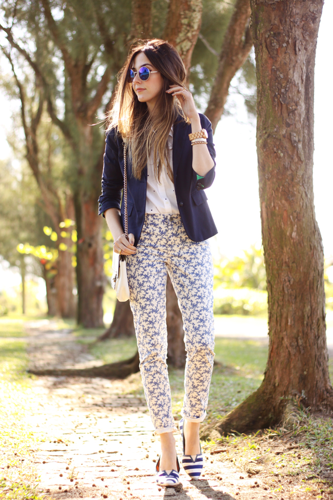 FashionCoolture -  21.09.2015 look du jour Gap mix of prints navy blue (1)