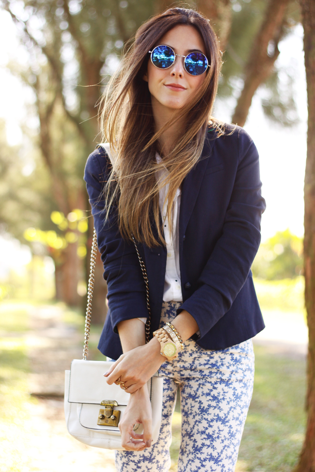 FashionCoolture -  21.09.2015 look du jour Gap mix of prints navy blue (2)