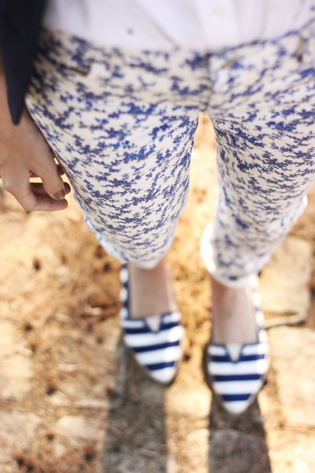 FashionCoolture -  21.09.2015 look du jour Gap mix of prints navy blue (3)