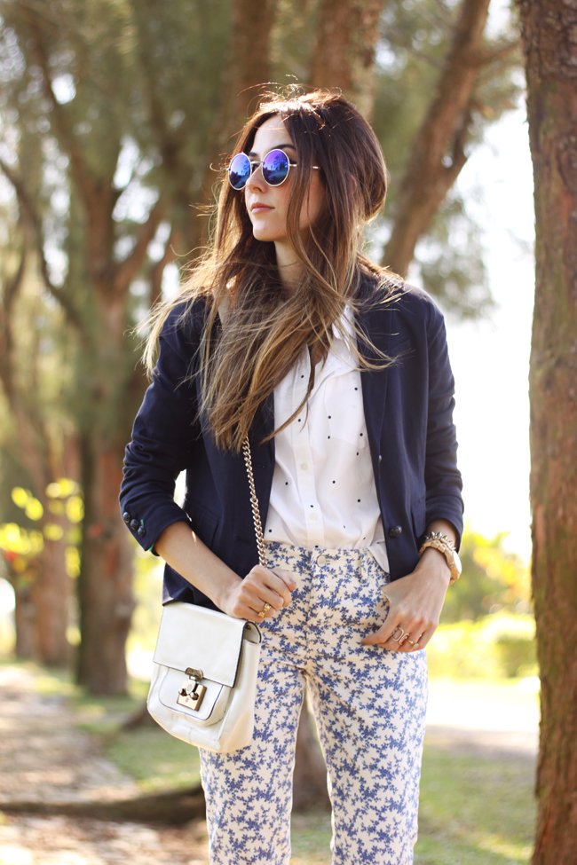 FashionCoolture -  21.09.2015 look du jour Gap mix of prints navy blue (8)