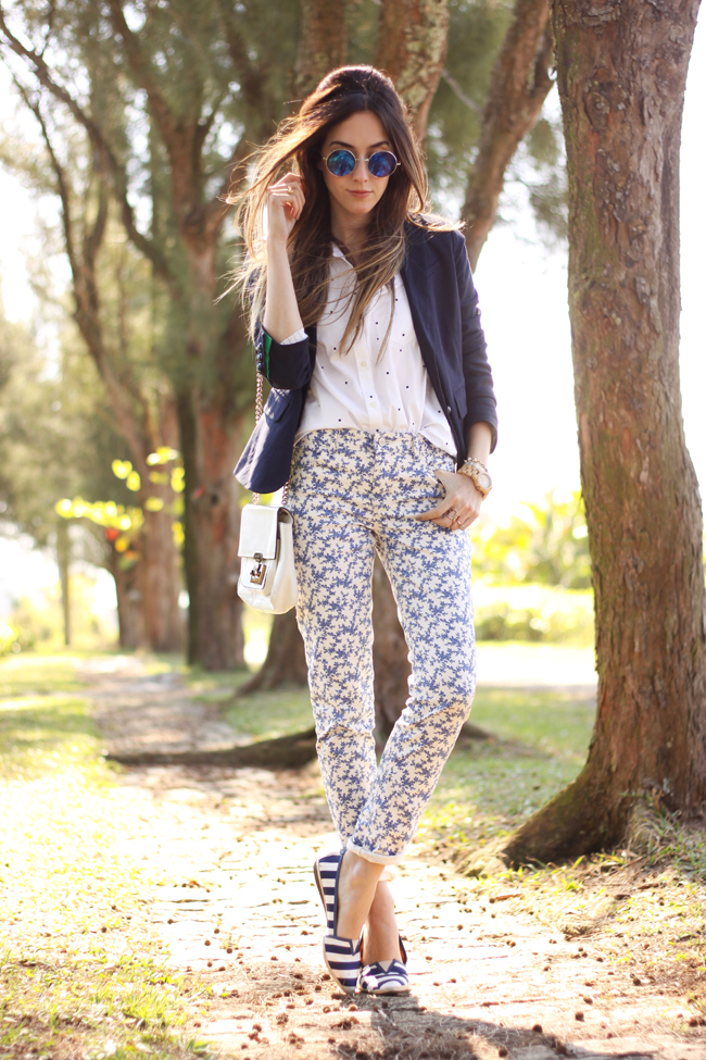 FashionCoolture -  21.09.2015 look du jour Gap mix of prints navy blue (9)
