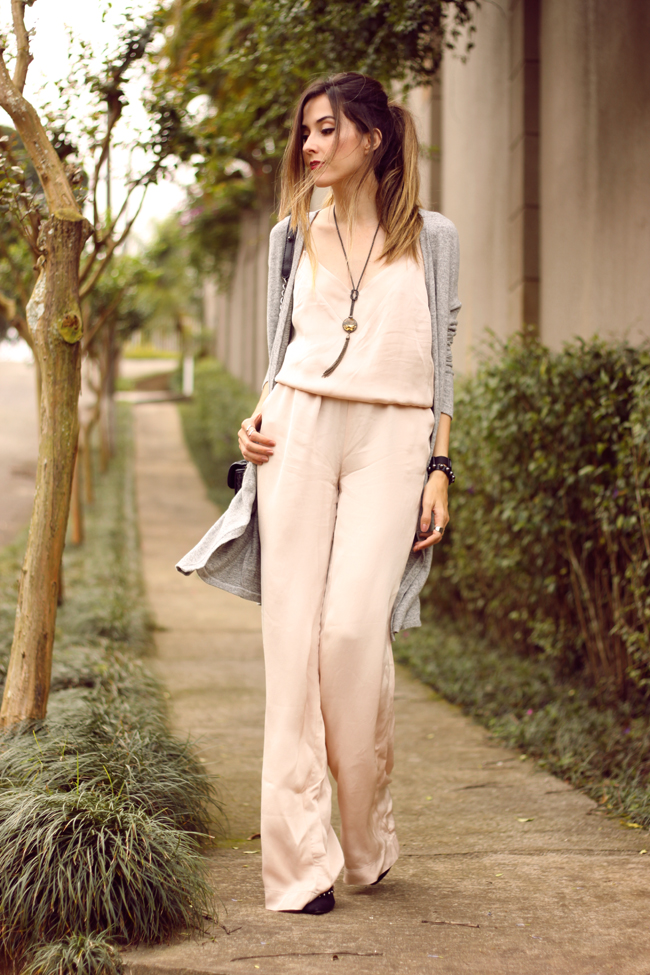 FashionCoolture - 08.10.2015 look du jour Shoulder jumpsuit nude (1)