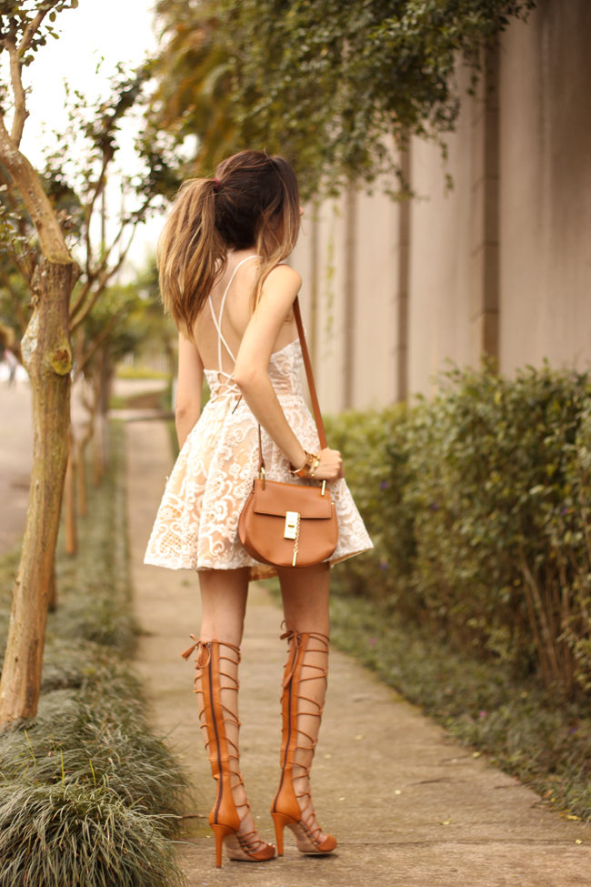 FashionCoolture - 13.10.2015 look du jour lace dress gladiator sandals (3)