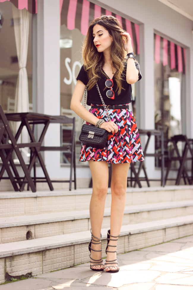 FashionCoolture - 20.10.2015 look du jour Dafiti printed skirt black tshirt (1)