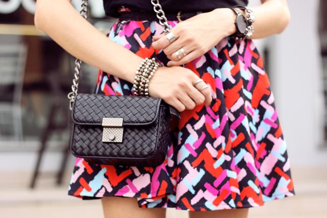 FashionCoolture - 20.10.2015 look du jour Dafiti printed skirt black tshirt (2)