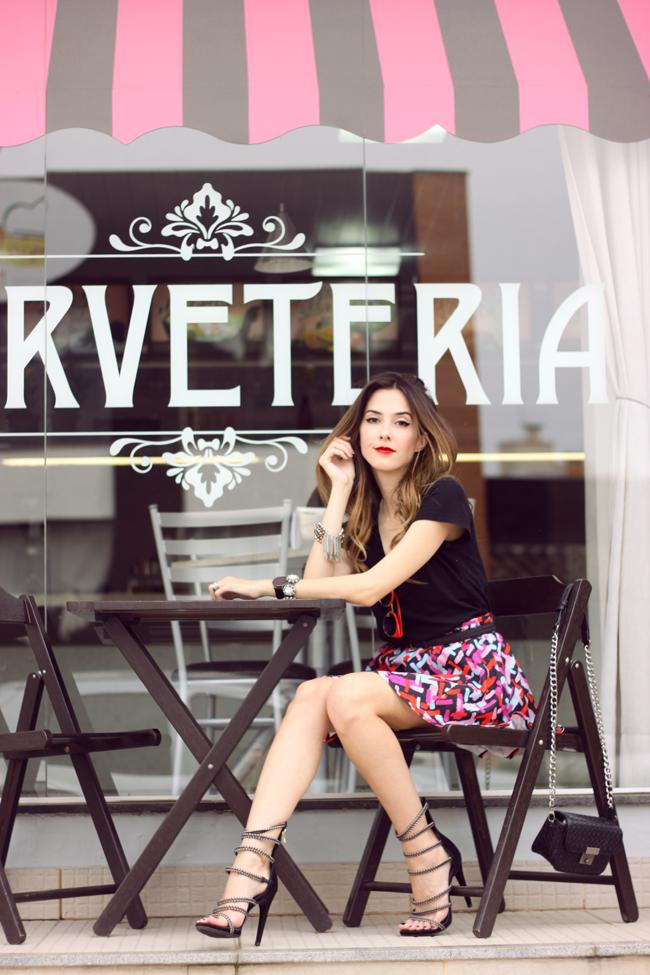 FashionCoolture - 20.10.2015 look du jour Dafiti printed skirt black tshirt (3)