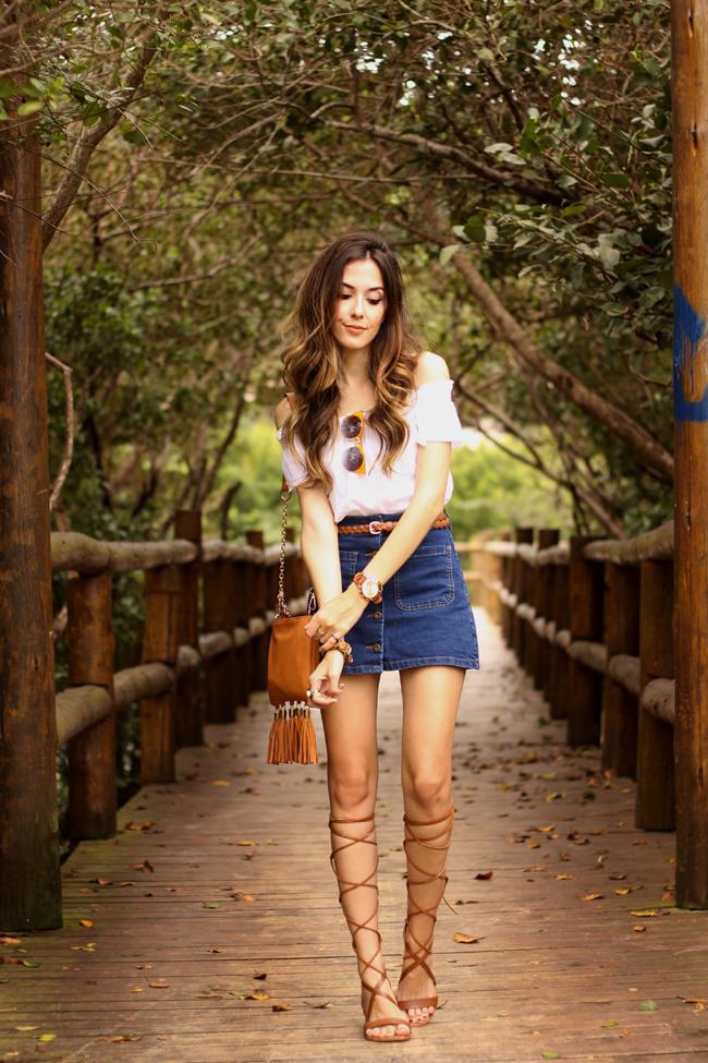 FashionCoolture - 26.10.2015 look du jour Dafiti button front denim skirt  (1)