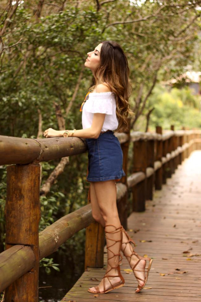 FashionCoolture - 26.10.2015 look du jour Dafiti button front denim skirt  (4)