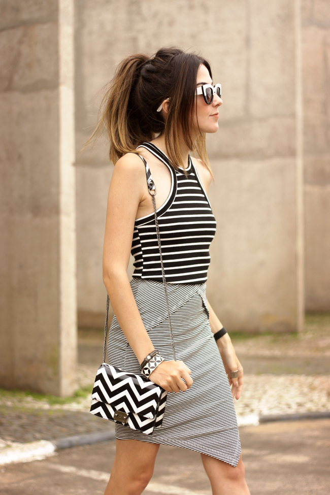 FashionCoolture - 04.11.2015 look du jour Displicent black and white mix of prints (2)
